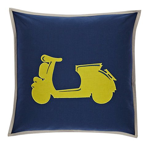 Buy little home at John Lewis Here, There & Everywhere Vespa Cushion Online at johnlewis.com £15