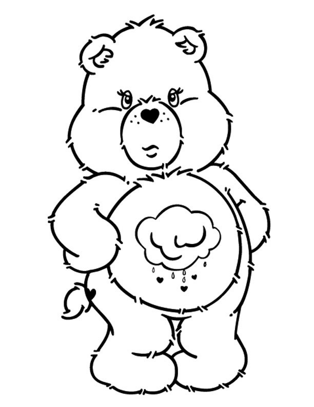 Free Care Bear Coloring Pages Grumpy