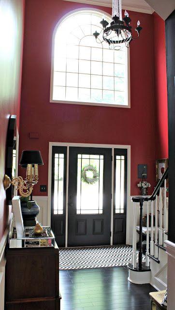 Foyer Rug Vinegar : Best ideas about red walls on pinterest bedroom
