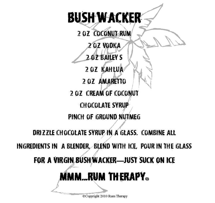 Bushwacker...drink from Paradise Point, St Thomas