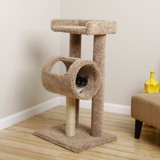 @Overstock.com - New Cat Condos Premeire Cat Climber Cat Tree - Give your cat something interesting to play with by getting this New Cat Condos cat tree. The sisal rope scratching post will allow your cat to sharpen its claws, and the climbing tube and perch will provide a fun place for it to play or relax.  http://www.overstock.com/Pet-Supplies/New-Cat-Condos-Premeire-Cat-Climber-Cat-Tree/8060389/product.html?CID=214117 $109.99