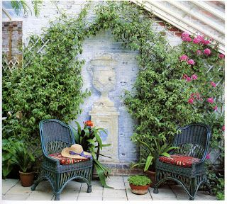 1000 ideas sobre patios decorados en pinterest pisos for Muebles para patios exteriores