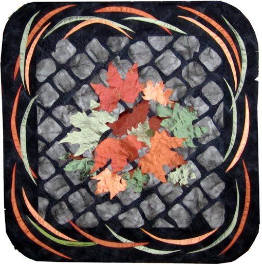 @Simonetta Zoppi ottobrata romana lavoro con seta, ispirato ai #sanpietrini di roma in una giornata d'autunno