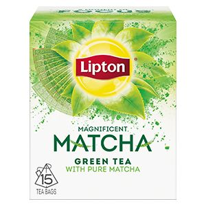 Find your moment of focus with Lipton's Magnificent Matcha, green tea blended with pure Japanese Matcha in pyramid tea bags.