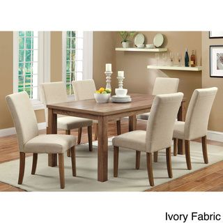 Overstock Furniture Of America Seline 7 Piece 64 Inch Dining Table Set With Leatherette