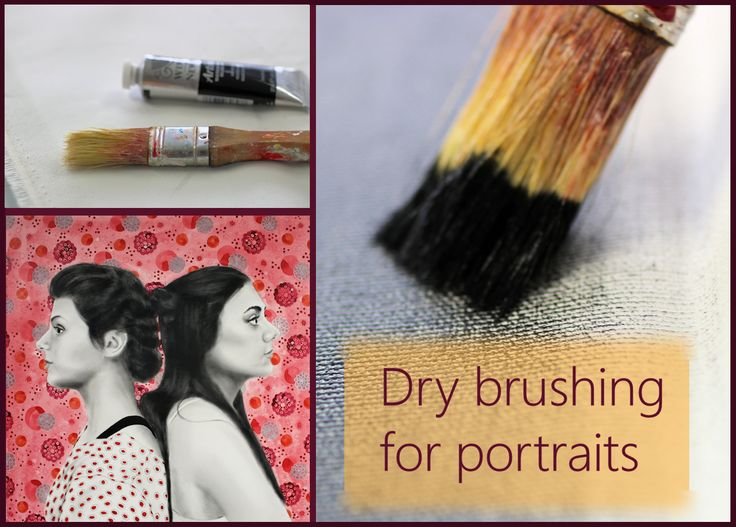 Dry brush technique for portraits by Sandrine Pelissier on ARTiful, painting demos