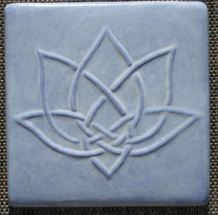 Celtic lotus tile - interesting design idea for a tattoo in white ink