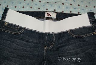DIY front-only elasticized maternity jeans tutorial