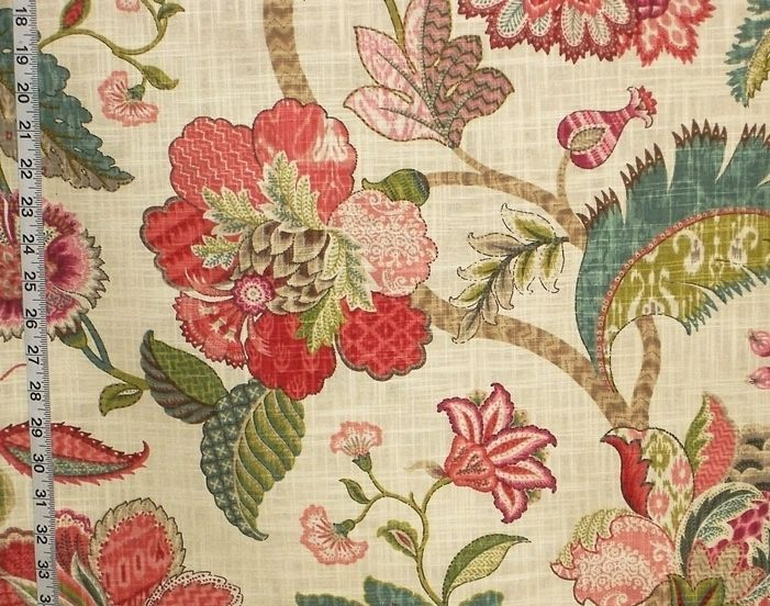 brewster red jacobean floral - photo #18