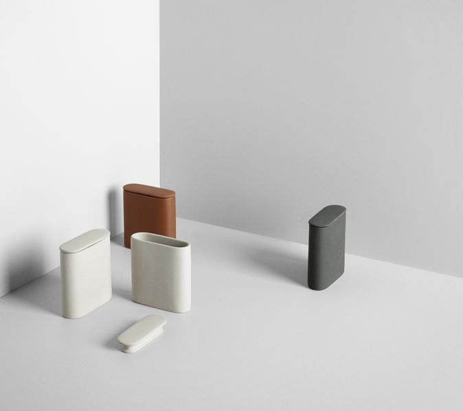 The Afteroom Caddy takes care of your stuff in kitchen, bathroom or  office.The simple, logical shape is a fine contrast to the rough surface  and the dark and slightly raw colours. http://www.wgu.com.au/product/afteroom-caddy-container/  #interiordecor #interiordesign #home #office