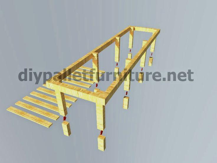 Muebles de palets planos e instrucciones para hacer un for Muebles con palets planos