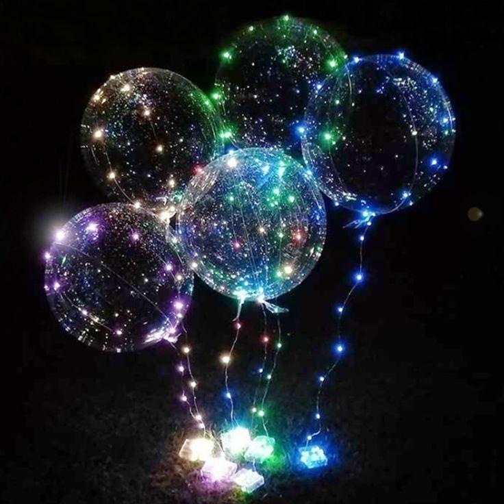 Bobo Balloon LED String Light for Christmas Party Decor - 3 x AA BATTERY POWERED