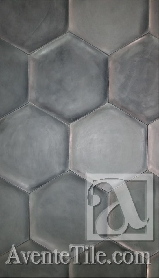 Tile Grouping - Elevations Concave Hexagons Relief Wall Tile