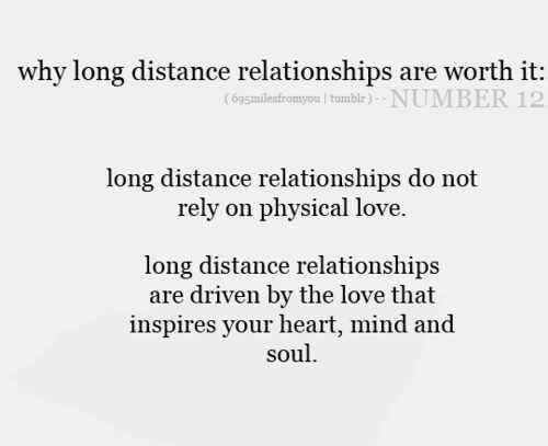 is long distance dating worth it Long distance guy: is he worth it is it possible that the long distance made it easy for him to when we first started dating te love he had for me was so.