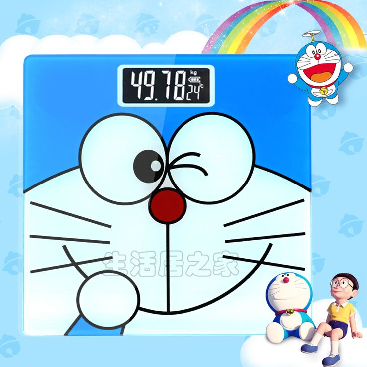 Photos Of kg g Cartoon Doraemon LCD Display Bathroom Scale Square Electronic Digital Weighing Scale Personal Body