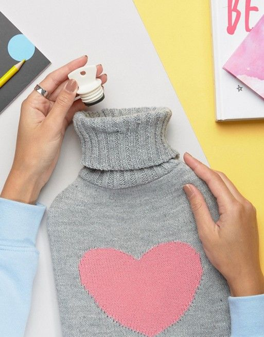 Paperchase Heart Hot Water Bottle #clicktoshop