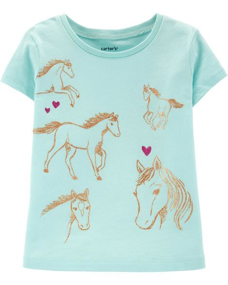 89b8b9240d Horse Jersey Tee in 2019 | Products | Baby girl shirts, Toddler girl ...