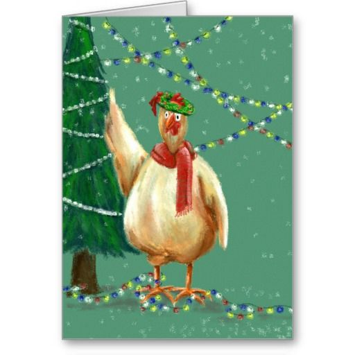 Unique Christmas card for backyard chicken lovers - use my wording or make it personal by easily adding your own.