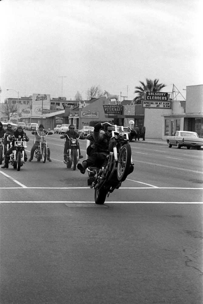 Hells Angel pulling a wheelie with his old lady hanging on  Bakersfield CA  Life Magazine. 17 Best images about Bakersfield CA on Pinterest   Trips  Drive in