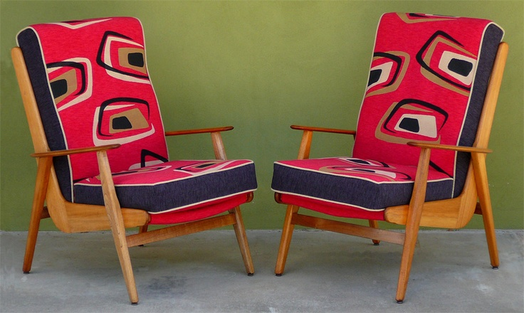 Don Rex Boomerang Chairs Upholstered By Social Fabric Modernist Australia