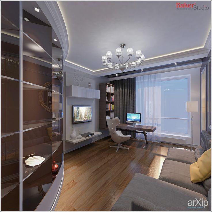 GAGARINO: интерьер, квартира, дом, современный, модернизм, кабинет личный, кабинет руководителя, 10 - 20 м2 #interiordesign #apartment #house #modern #personalcabinet #officeofceo #10_20m2 arXip.com