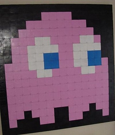 Pixel Art pacman minecraft http://www.helpmedias.com/minecraft.php
