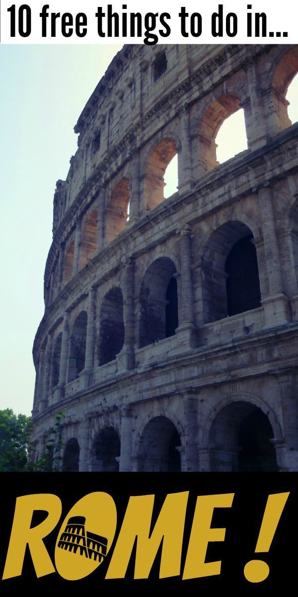 10 free things to do in Rome!!! Easily fill up two days in Rome with these 10 fun things. Via @travellingweas