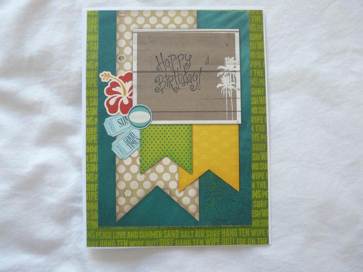 Birthday card BoBunny papers 2015