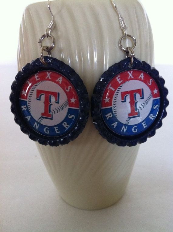 Check out this item in my Etsy shop https://www.etsy.com/listing/185229674/texas-rangers-inspired-baseball-earrings