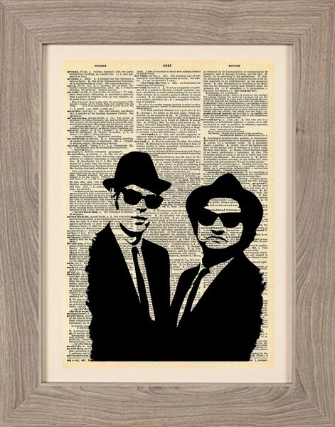 Cinematic - Stampa Blues Brothers di Stampe Cinematografiche di Framenti Design su DaWanda.com
