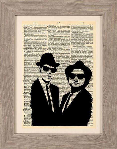 Cinematic - Stampa Blues Brothers di Stampe Cinematografiche di Framenti Design su DaWanda.com