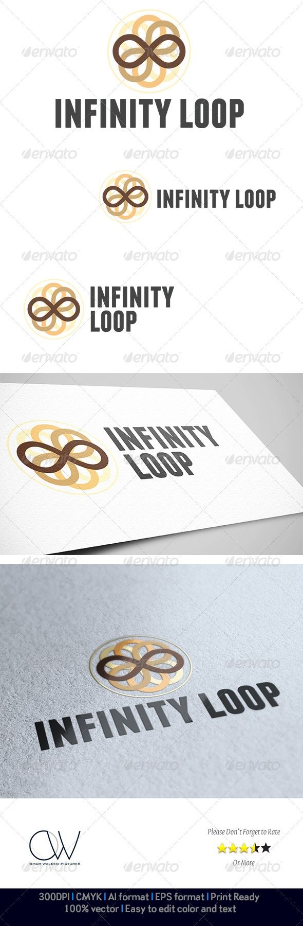 Infinity Loop Logo  #GraphicRiver                                Logo Description: Infinity Loop Logo can be used in commercial and industrial companies