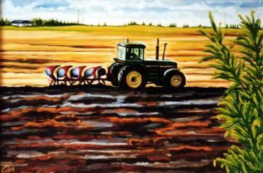 "Saatchi Art Artist Dan Civa; Painting, ""Autumn ploughing in Denmark"" #art"