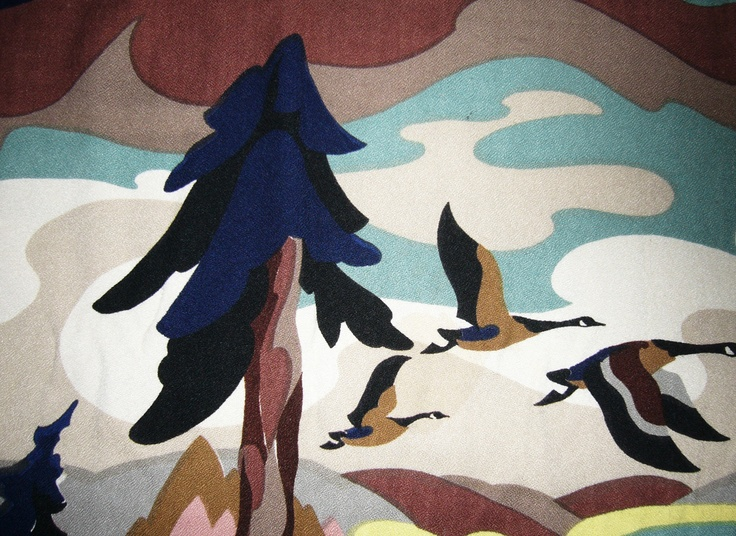 Fabric swatch from the great Canadian artist Thor Hansen. Canadiana before it was cool!