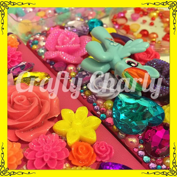 Works in progress :D these bright colours are cheering me right up in the dark winter weather!x #craftycharly #mlp #iphonecase #customcase #musthave #decoden #handmade #newmakes #CCC #rainbowdash #madeinyorkshire #barnsley #pink #yellow #purple #blue