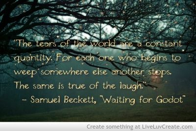 an interpretation of waiting for godot by samuel beckett In samuel beckett's waiting for godot, godot is generally considered to be a symbol of god what evidence does the play give to support this interpretation.