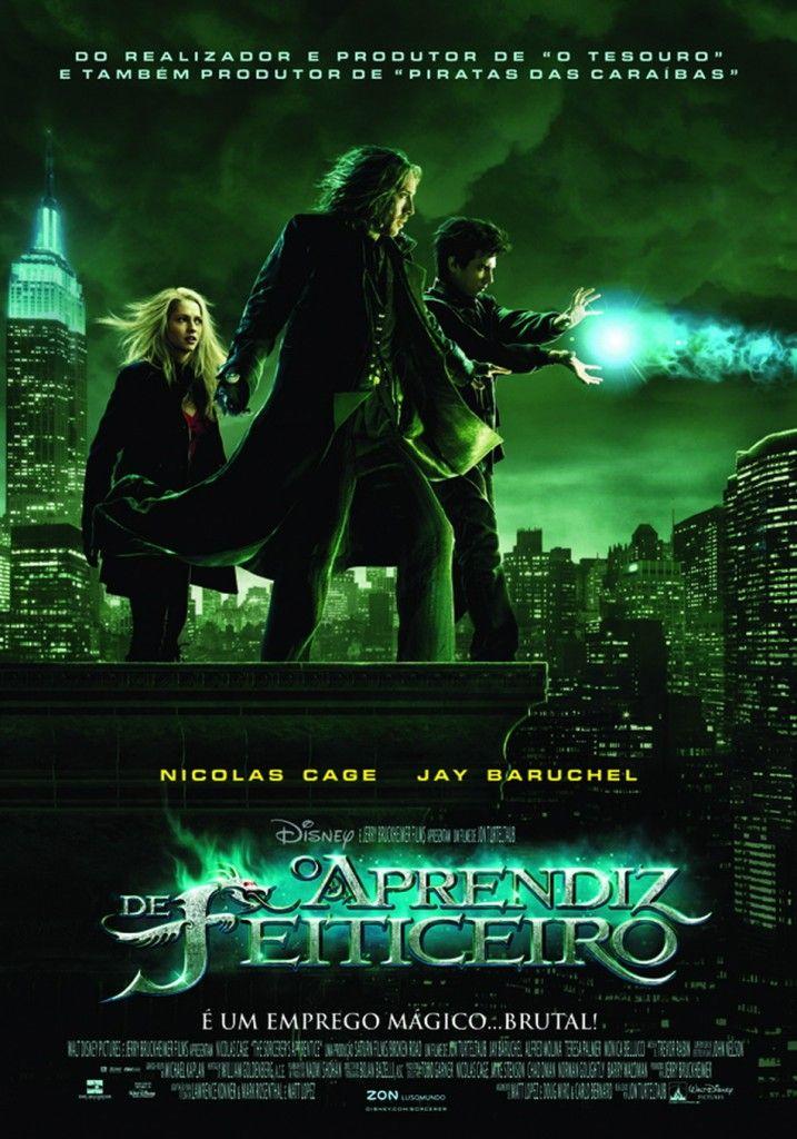 """""""Aprendiz de Feiticeiro"""" (The Sorcerer's Apprentice - 2010). Amo o filme, a cidade de NY e a música."""