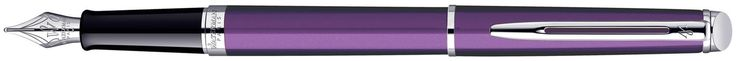 Waterman Hemisphere Fountain Pen - Purple Chrome Trim