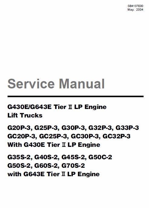 Doosan Daewoo G430E, G643E Tier 2 LP Engine Forklift