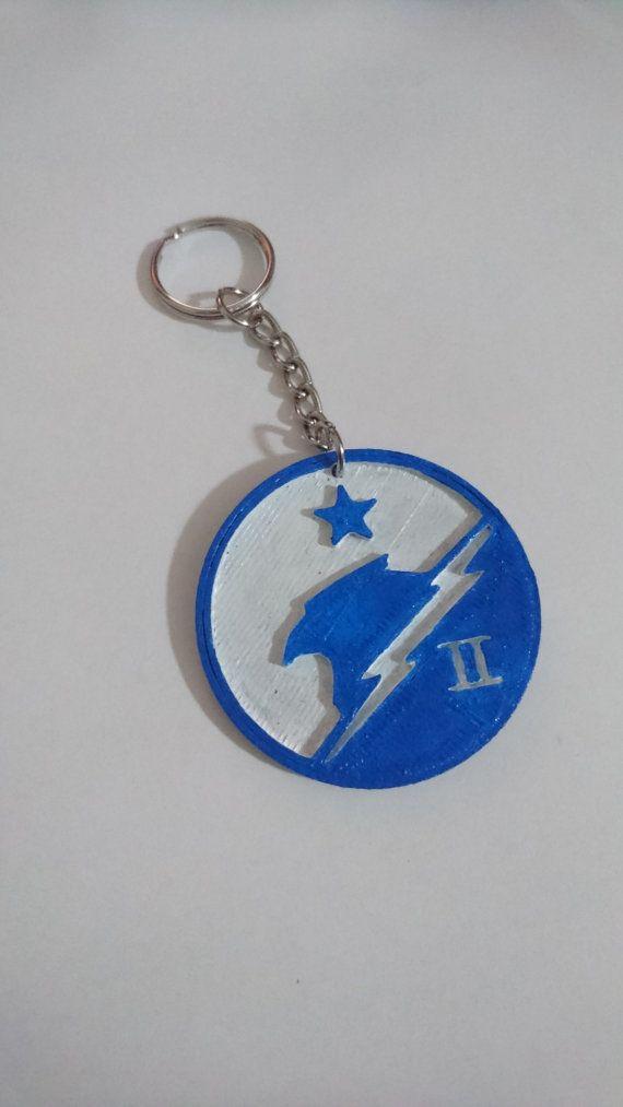 Halo 5 Team Blue  Keychain -JacProWorkshop su Etsy