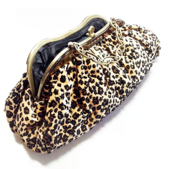 Vintage tas in luipaardprint -Bagging for Classic