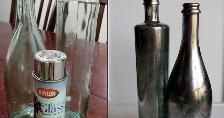 DIY: Z Gallerie Inspired Mercury Glass Bottles