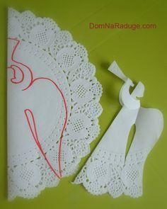 como fazer anjo do céu aberto guardanapo de papel