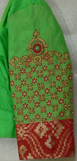 Elbow length hand with thread and stone work 91 9866583602 whatsapp no 7702919644