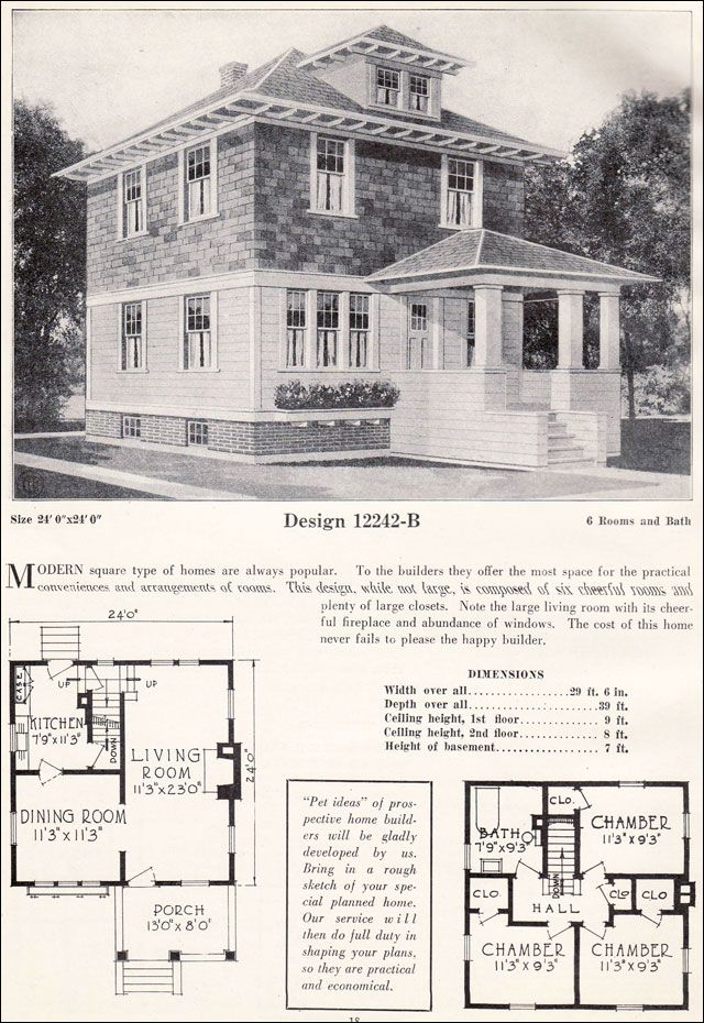 362 best American Foursquare Houses images on Pinterest   Craftsman ...