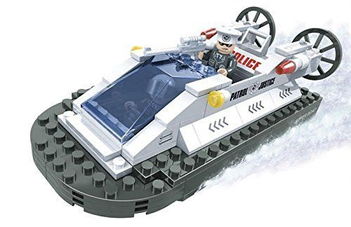 Ausini City Search and Rescue Police Patrol Boat 137pc Building Blocks Educational Set Compatible to Lego Parts â Best Gift for Boys and Girls
