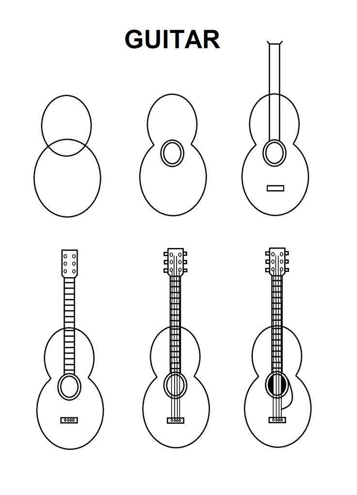 Guitar drawing sketches pencil in 2020 art drawings