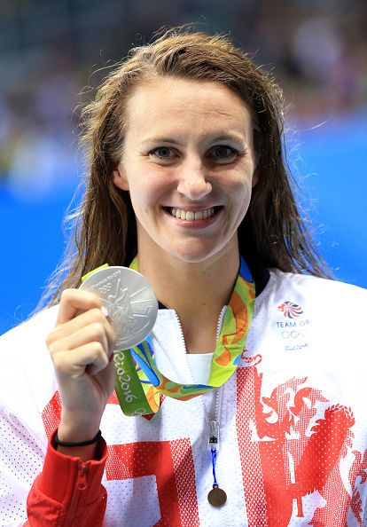 Jazz Carlin of Great Britain wins Silver in the Women's 800m Freestyle Final on…