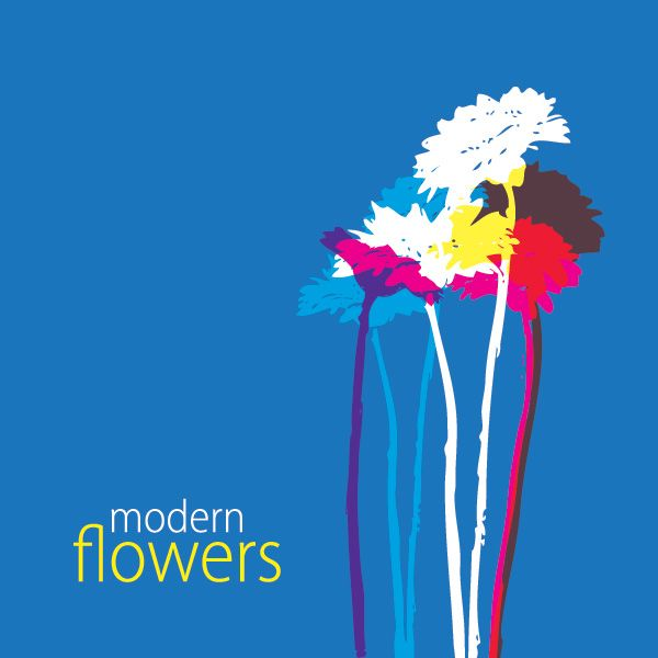 """Modern Flowers"", vector graphic by DryIcons.com - available with Free, Commercial and Extended License."