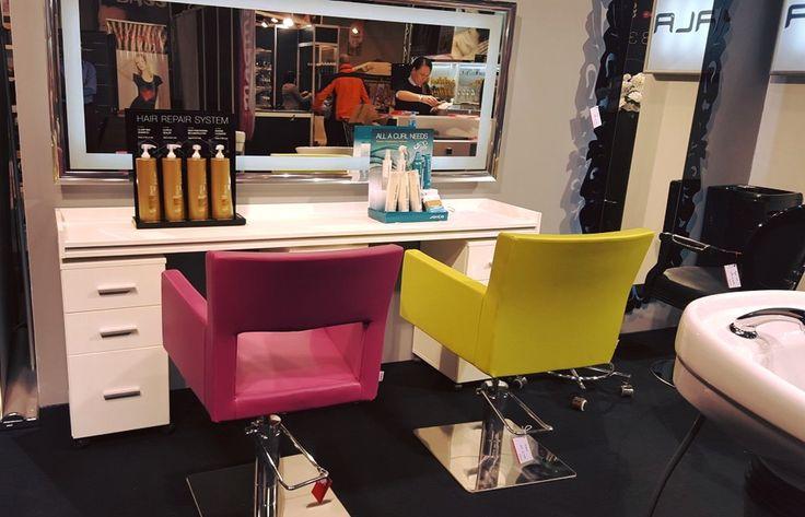 Ayala furniture stand at HAIR FAIR 2015 #Salonideas #Salondesign